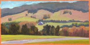 "Toad Run/Shag Hill - early spring, 5""x10"""