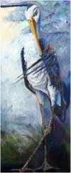 heron in storm