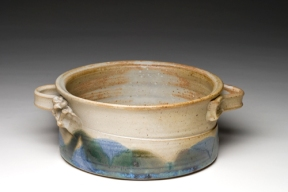 "Baker, wheel-thrown stoneware, 7 ½ ""x3"" aprox."