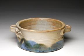 "Baker, wheel-thrown stoneware, 7 ½ ""x3"" aprox."