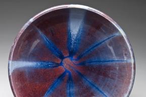 Radiating Blue bowl by Jarrard