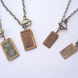 Bronze Lexington Brick Pendants