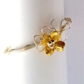 Dogwood Bracelet in Silver and Gold