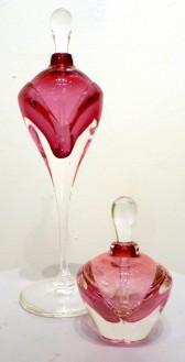 phillip nolley/perfume bottles/blown glass