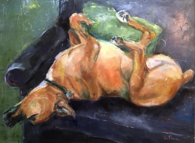 """Sweet Dreams, 30""""X40"""" Oil on gallery wrapped canvas, $1,000.00, By Karen Pannabecker"""