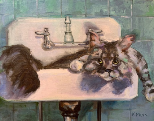 """Find your own sink, 16""""X20"""" Oil on gallery wrapped canvas, $360.00, By Karen Pannabecker"""