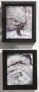 Framed acrylic pours