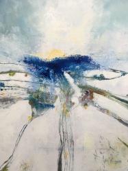 """Storm, 19""""X24"""" Framed $800, By Martha Devening"""