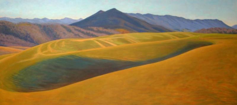 "Winter Haiku, 80""X36"", Oil on Panel, Framed $3,000, By Elizabeth Sauder"